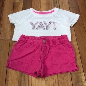 Girls OshKosh 3T shorts outfit